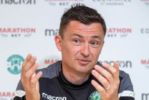 Paul Heckingbottom doesn't believe he will face SFA action for his comments about fourth official Gavin Duncan after the Edinburgh derby. Picture: SNS Group