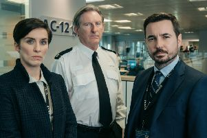 Vicky McClure, Adrian Dunbar and Martin Compston in Line of Duty ' Hayley's TV blind spot until now. Picture: BBC