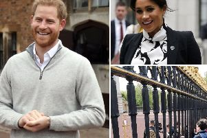 Prince Harry announced the happy news as wellwishers gathered outside Buckingham Palace