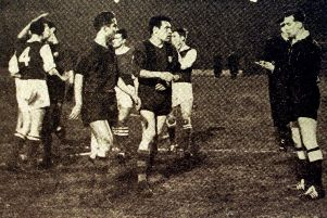 Hibs drew 4-4 with Barcelona at the Nou Camp, and won 3-2 at Easter Road. Picture: Contributed