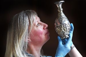 The exhibition of Traprain Treasures will open in Haddington, East Lothian, on Saturday and is curated by Dr Claire Pannell of East Lothian Council Museums Service (pictured).