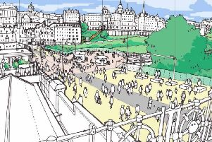 Waverley Bridge could be traffic free