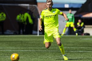 Fraser Murray made his first start in the Premiership against Kilmarnock