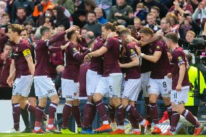 Hearts will be backed by more than 21,000 supporters at Hampden