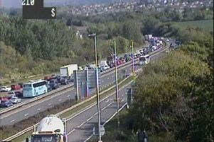 Traffic is queuing up on the City Bypass as rush hour begins. Pic: Traffic Scotland