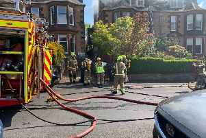 First pictures from scene of Murrayfield fire
