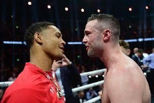 Regis Prograis, left, and Josh Taylor will meet later this year in the final of the Muhammad Ali Trophy. Pic: SNS