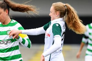 Kirsty Morrison gave Hibs the lead against Rangers