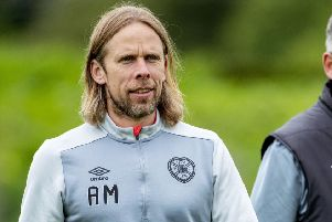 Austin MacPhee is the man behind Hearts' set-pieces