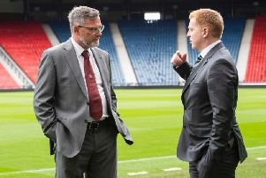 Can Craig Levein get the better of Neil Lennon. Picture: SNS