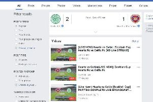 Facebook appears to have already predicted the scoreline. Pic: Facebook