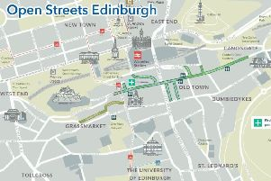 Map showing the Open Streets closures. Pic: Edinburgh City Council