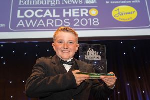 Schoolboy Joseph Cox picked up the overall Local Hero award at last year's event.