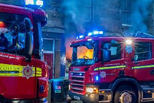 The fire took place on Raeburn Place in Stockbridge. Picture: Claire Ferrier
