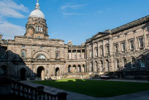 The attack took place at Edinburgh University it is claimed. Picture EEN