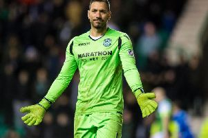 Ofir Marciano in action for Hibs