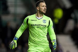 Ofir Marciano has been in strong form for Hibs this calendar year. Pic: SNS