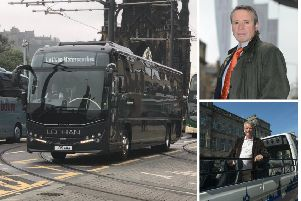 Bus bosses have been reprimanded over the registration plate prank.