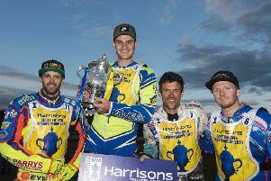 Scottish open winner Richie Worrall flanked by Rory Schlein, left, Kevin Doolan, right and Cameron Heeps. PictureL Ron MacNeill