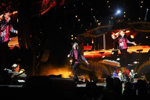 Mick Jagger performs during a concert at Ciudad Deportiva in Havana, Cuba''Pic: Yamil Lage/AFP/Getty Images)