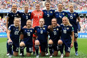 Scotland team prior to England clash.