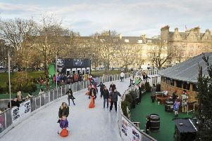 Skaters on the ice rink in St Andrew Square.'' Pic: Neil Hanna Photography