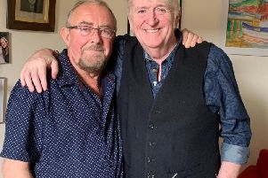 Aly Ban pictured with Phil Cunningham after undergoing his triple heart bypass.