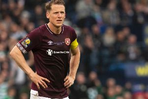 Christophe Berra's no-nonsense approach saw him regarded as the best left-sided Hearts centre-back of the 21st century. Picture: SNS