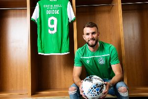 New Hibs signing Christian Doidge. Picture: SNS