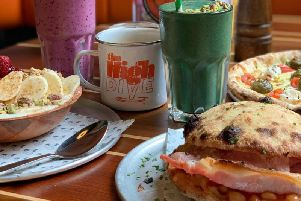 The pizza breakfast menu includes pizza dough bacon butties and superfruit smoothies.