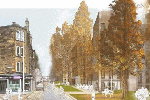 An artist's impression of the proposed Meadowbank housing development, picture: Edinburgh Council