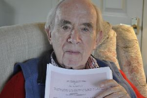 Stone of Destiny raider Ian Hamilton has been reunited with a play he wrote more than 60 years ago.