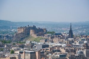It's been warm and sunny in Edinburgh today.