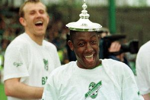 Russell Latapy was a wonderful character at Hibs. Picture: SNS