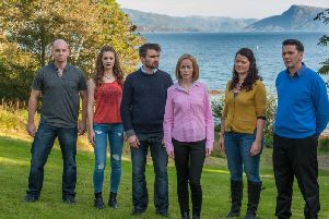 The cast of the hit BBC Alba show Bannan, which is made on the Isle of Skye.