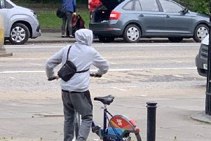 Youths were spotted in Hillside Crescent last Sunday