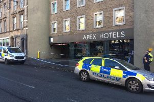 The attack took place outside the Apex Hotel in the Grassmarket in November last year.