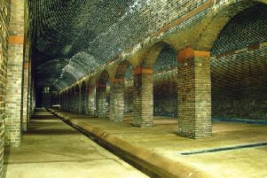 The chamber served as a 15 million gallon tank