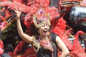 The vibrant Jazz and Blues Festival carnival. Picture: Greg Macvean