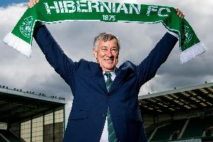 Ronald Gordon is unveiled as the new owner of Hibs