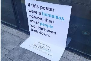 These posters have been designed to comment on homelessness and how we too often treat people on the streets as if they were invisible.