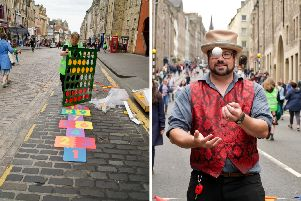 Residents and visitors alike could enjoy the vehicle-free streets of Edinburgh. PICS: The Edinburgh Reporter