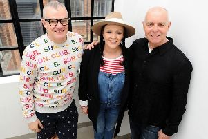 Jonathan Harvey, Frances Barber and Neil Tennant at BBC Radio 2