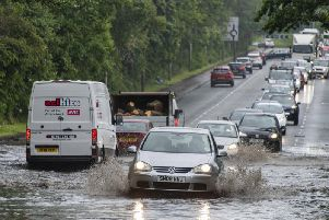 Edinburgh had severe flooding on 24 June. Picture: Andy O'Brien/TSPL