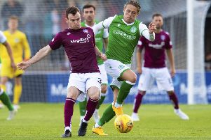 Scott Allan, right, is one of the new faces at Hibs this season. Pic: SNS