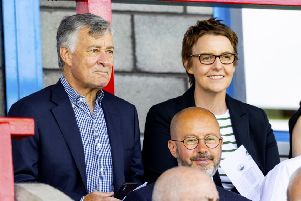 New Hibs owner Ron Gordon watched his first match away at Stirling Albion. Pic: SNS
