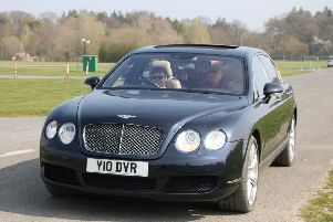 The 6.0-litre Bentley Flying Spur is capable of doing 0-60mph in about five seconds.