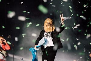 The Chewbacca mask worn by Lewis Capaldi at TRNSMT has gone up for auction to raise money for charity.