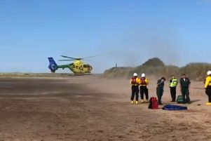 The Coastguard was in attendance at the incident on Hedderwick Sands (Photo: Dunbar Coastguard)