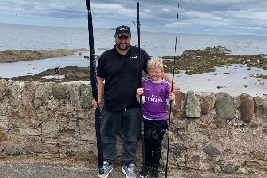 Mike Kyle and Stuart Kyle after their win in the East Fife Sea Angling Club Anyfish Anywhere event